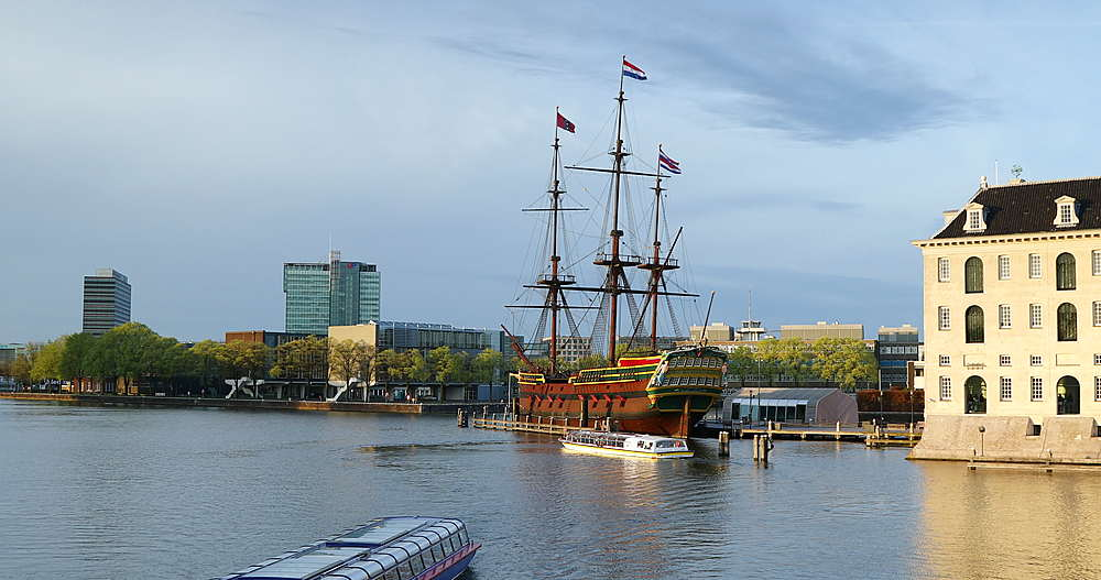 VOC ship and National Maritime Museum, Amsterdam, Netherlands - 800-3166