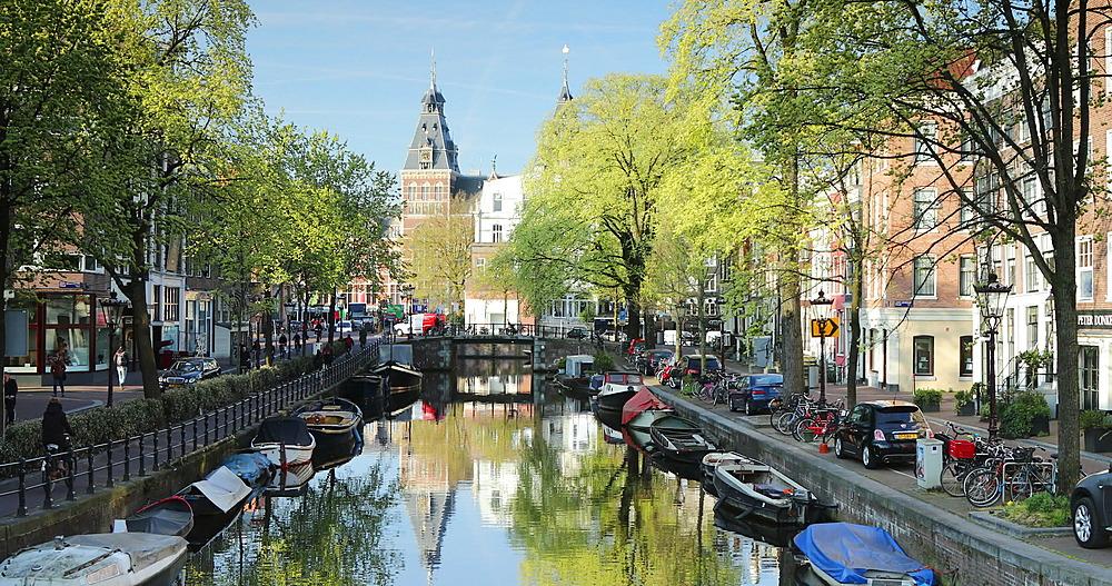 Rijksmuseum and Spiegelgracht canal, Amsterdam, Netherlands - 800-3169