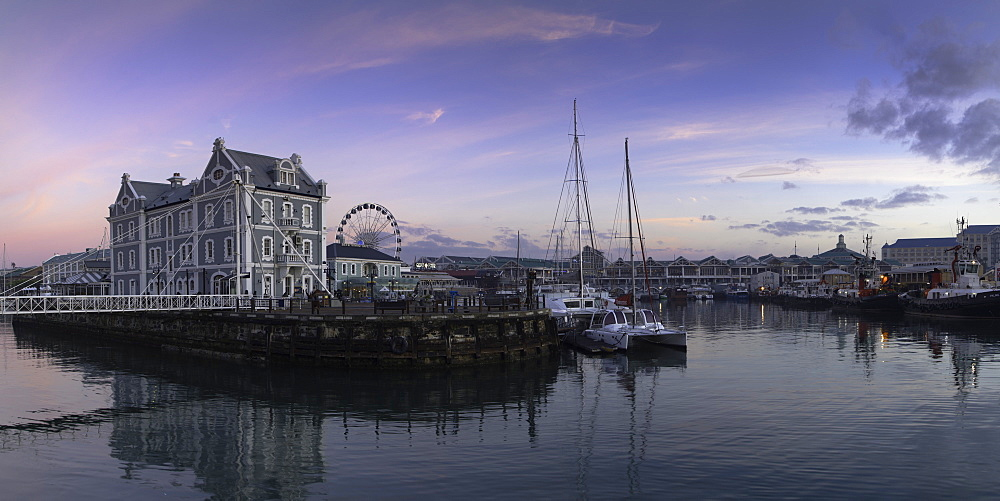 Victoria and Albert (V+A) Waterfront at dawn, Cape Town, Western Cape, South Africa - 800-3185