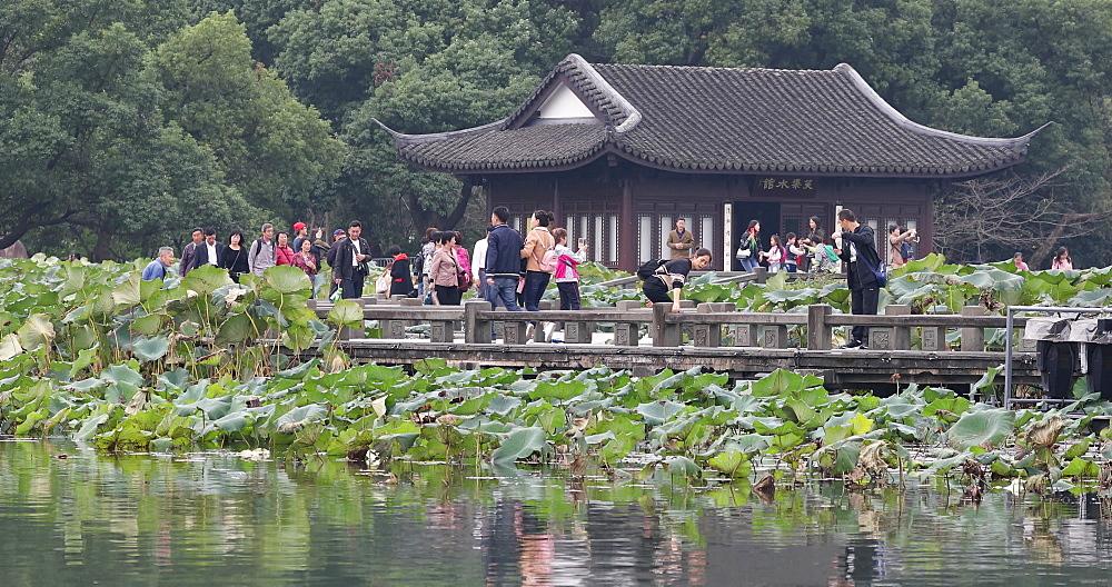 Quyuan Garden on West Lake, Hangzhou, Zhejiang, China, Asia