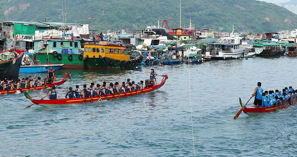 Dragon boat race, Shau Kei Wan, Hong Kong, China - 800-3250