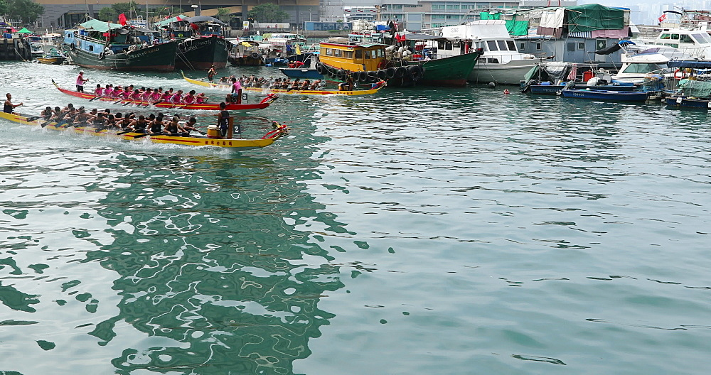 Dragon boat race, Shau Kei Wan, Hong Kong, China, Asia - 800-3252
