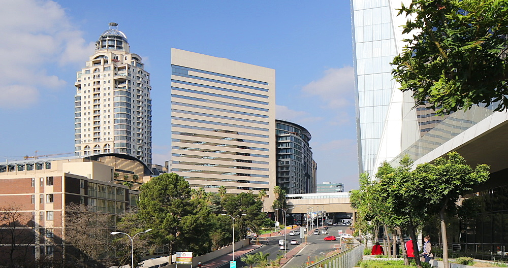 Michelangelo Towers and Intercontinental Hotel from Alice Lane Towers, Sandton, Johannesburg, Gauteng, South Africa - 800-3253