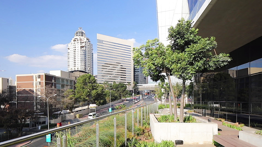 Michelangelo Towers and Intercontinental Hotel from Alice Lane Towers, Sandton, Johannesburg, Gauteng, South Africa - 800-3254
