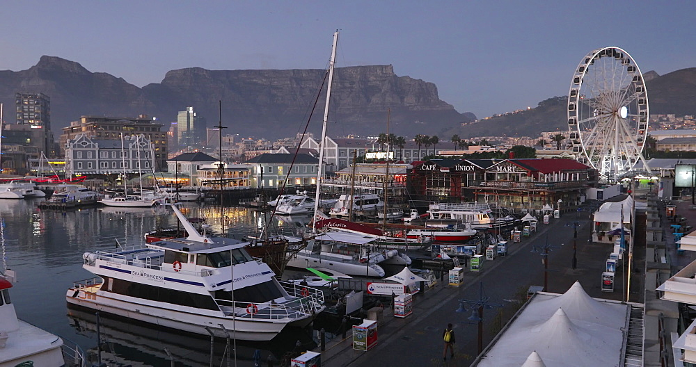 Victoria and Albert (V) Waterfront at dawn, Cape Town, Western Cape, South Africa - 800-3261