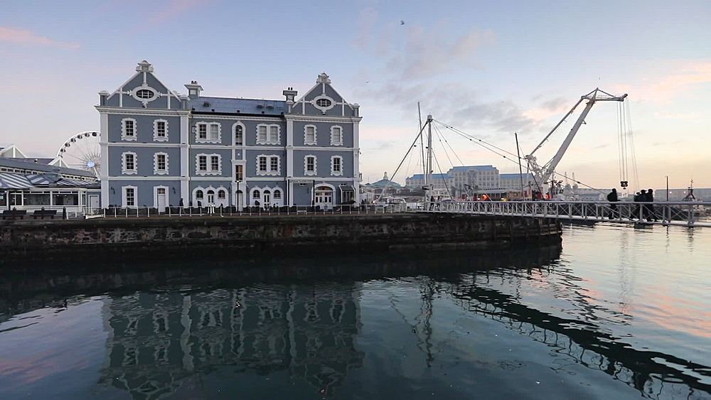 Victoria and Albert (V) Waterfront at dawn, Cape Town, Western Cape, South Africa - 800-3262