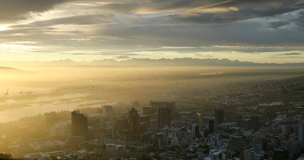 City Bowl at sunrise, Cape Town, Western Cape, South Africa, Africa - 800-3279