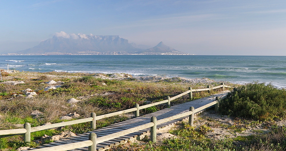 Table Mountain from Bloubergstrand, Cape Town, Western Cape, South Africa, Africa - 800-3282