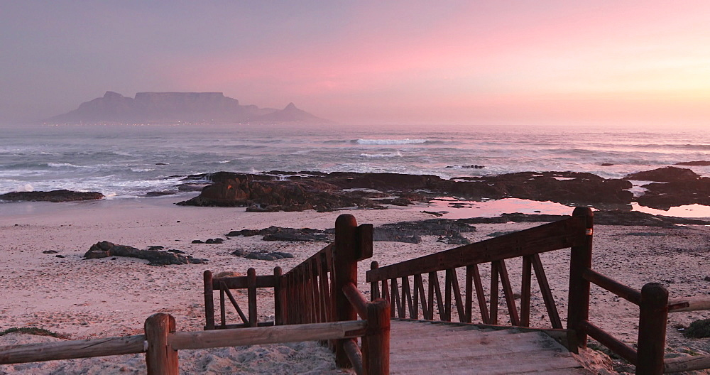 Table Mountain from Bloubergstrand, Cape Town, Western Cape, South Africa - 800-3285
