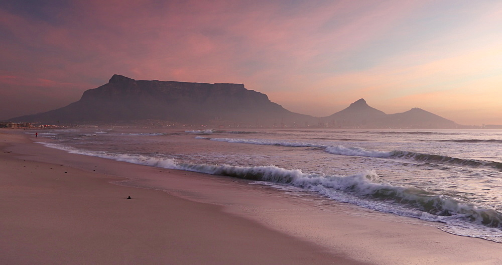 Table Mountain from Milnerton Beach, Cape Town, Western Cape, South Africa, Africa - 800-3288