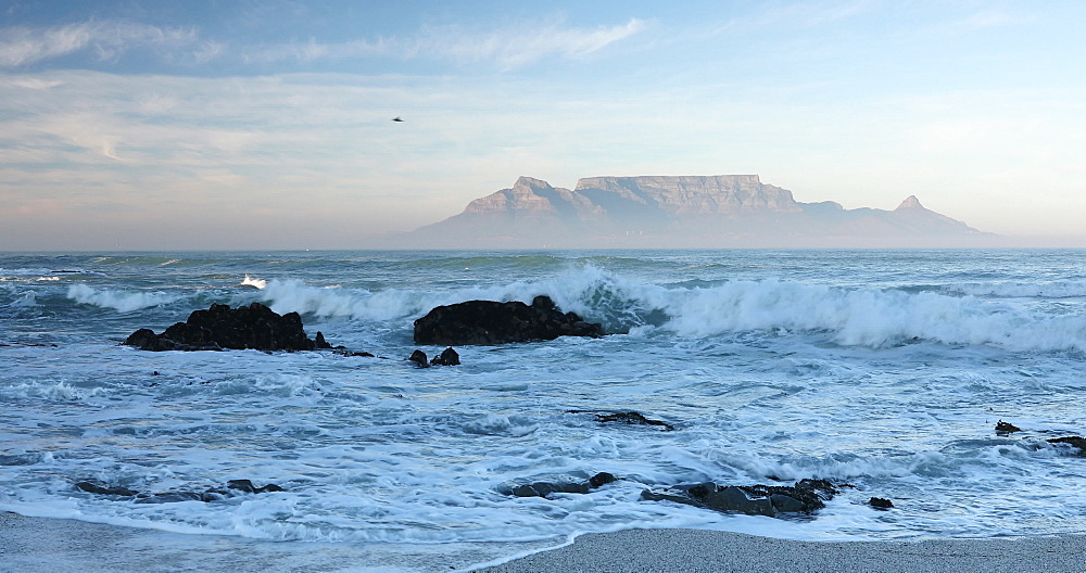Table Mountain from Bloubergstrand, Cape Town, Western Cape, South Africa, Africa - 800-3290