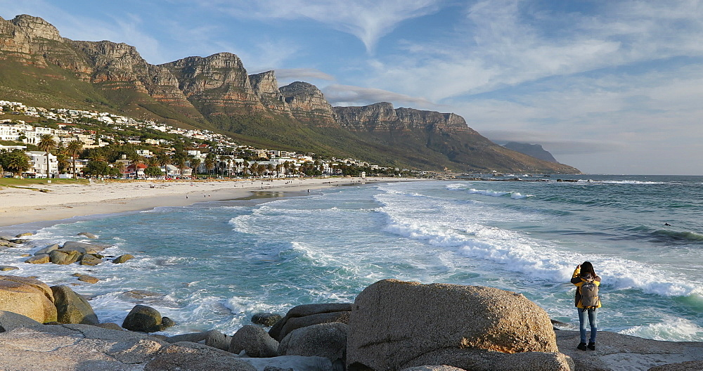 Woman at Camps Bay, Cape Town, Western Cape, South Africa, Africa - 800-3298