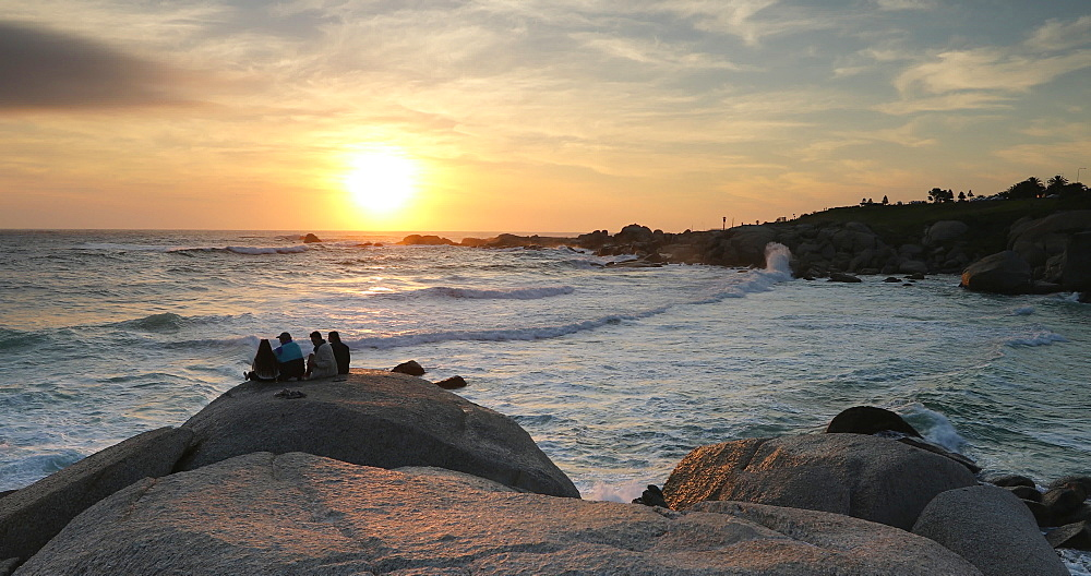 People watching sunset at Camps Bay, Cape Town, Western Cape, South Africa - 800-3303