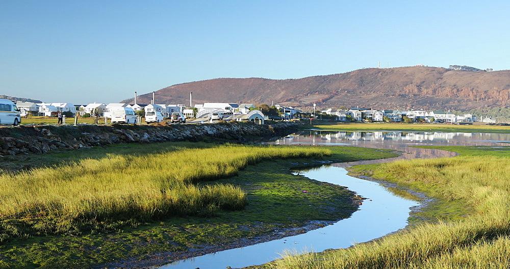 Houses along Knysna River, Knysna, Western Cape, South Africa, Africa - 800-3327