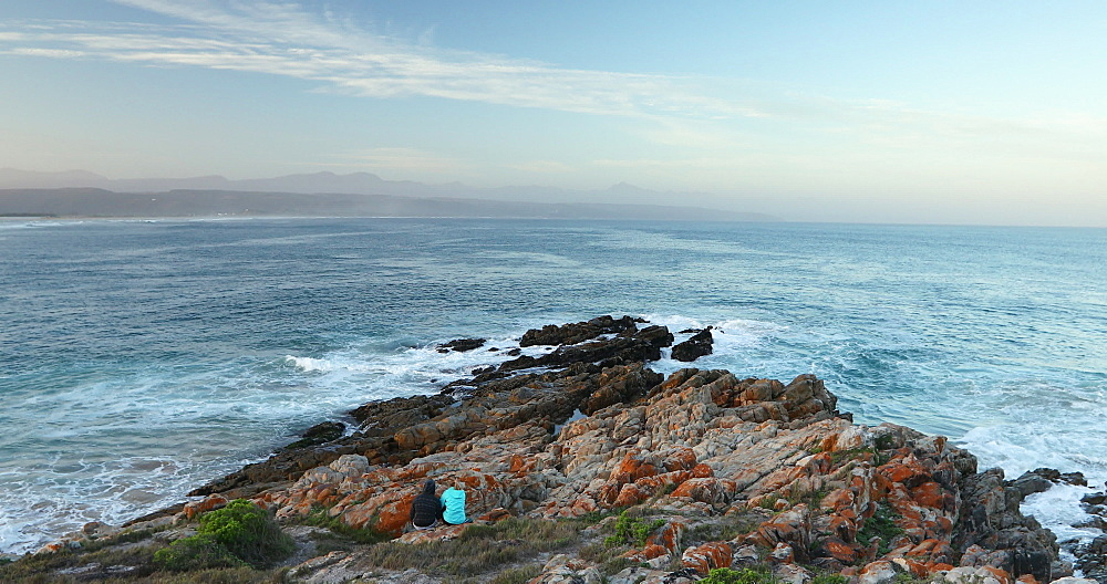 Couple on Lookout Beach, Plettenberg Bay, Western Cape, South Africa - 800-3341