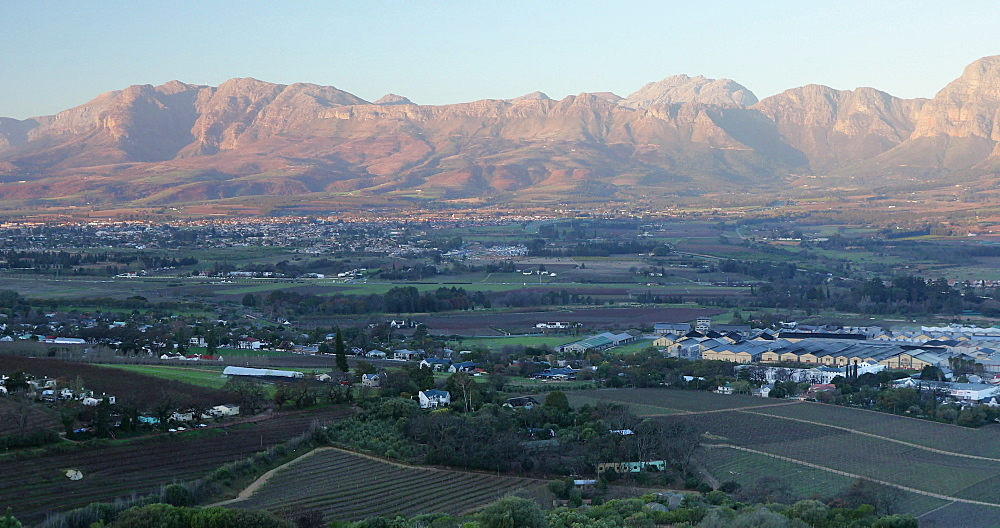 View of Paarl Valley, Western Cape, South Africa, Africa - 800-3349