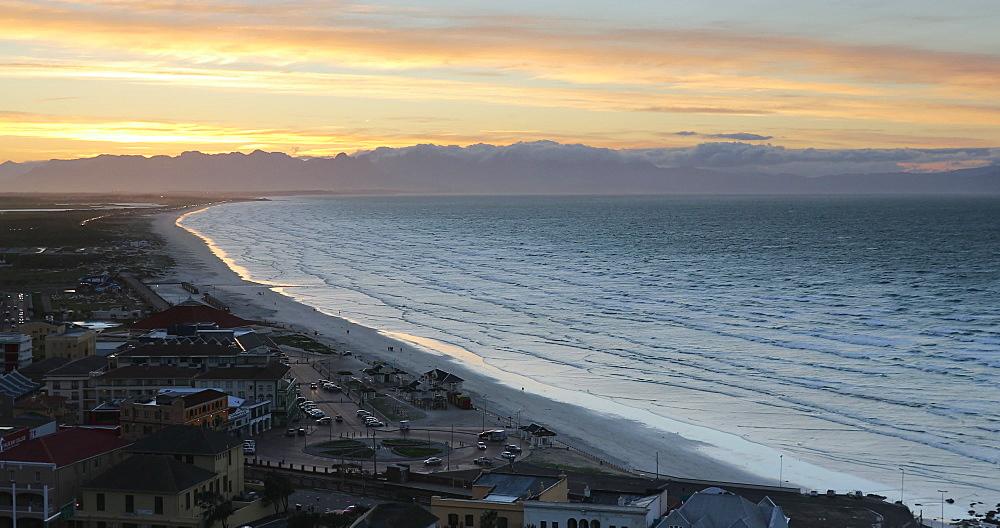 View of Muizenberg beach, Cape Peninsula, Cape Town, Western Cape, South Africa, Africa - 800-3369