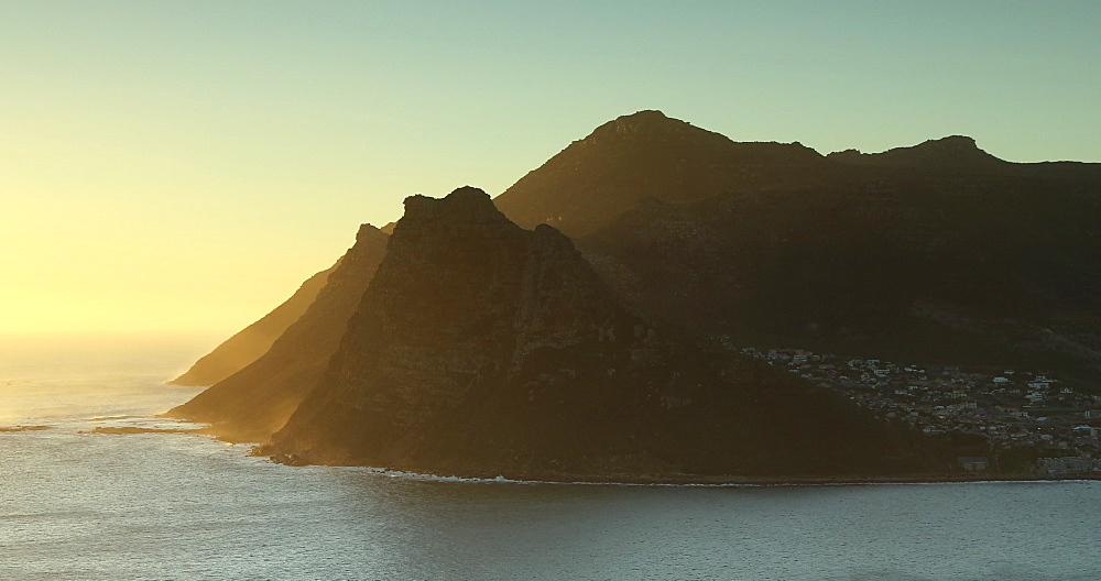 Hout Bay at sunset; Cape Peninsula, Cape Town, Western Cape, South Africa - 800-3377