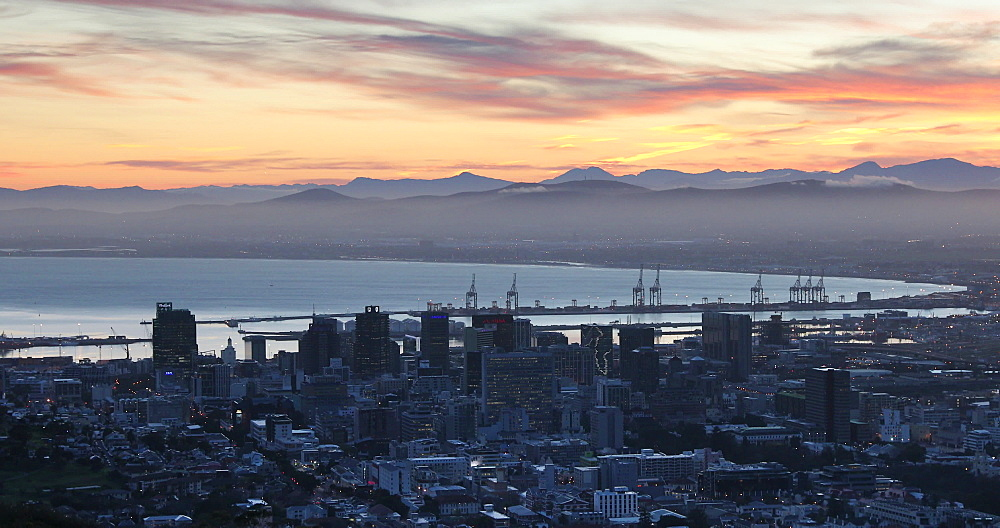 City Bowl at sunrise, Cape Town, Western Cape,  South Africa - 800-3385