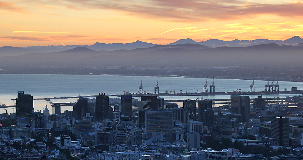 City Bowl at sunrise, Cape Town, Western Cape,  South Africa - 800-3387