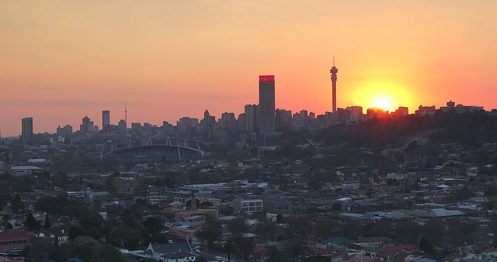 Skyline at sunset, Johannesburg, Gauteng, South Africa - 800-3388