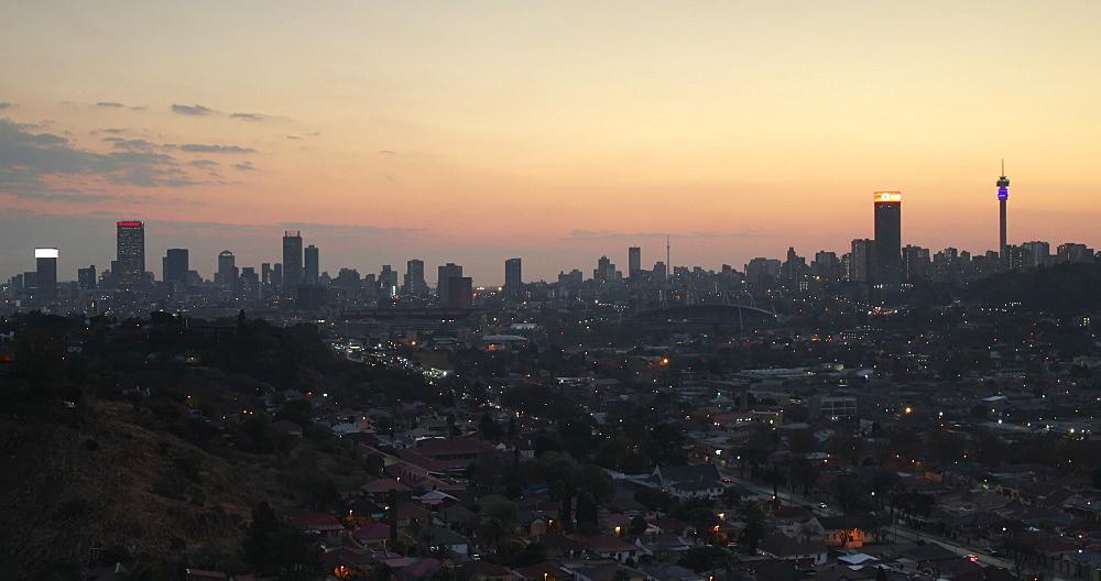 Skyline at sunset, Johannesburg, Gauteng, South Africa - 800-3389