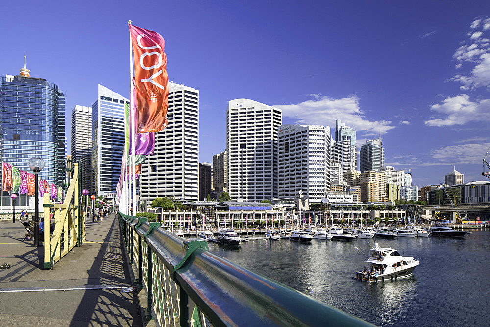 Pyrmont Bridge, Darling Harbour, Sydney, New South Wales, Australia, Pacific