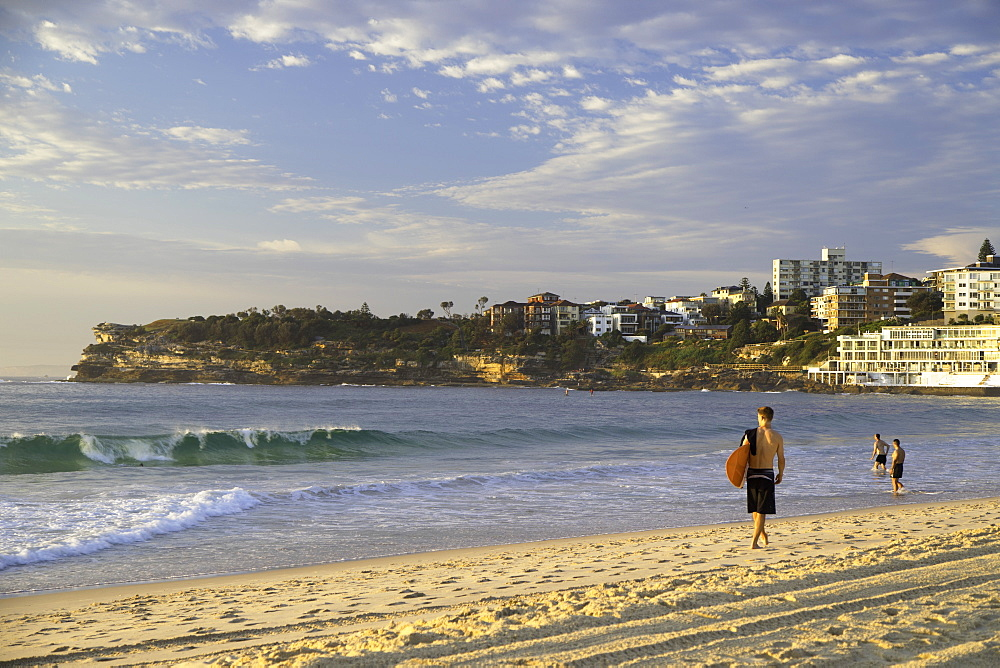 Surfer on Bondi Beach, Sydney, New South Wales, Australia