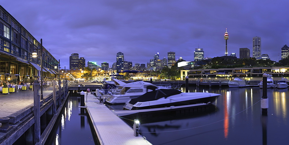 Wooloomooloo Marina at dusk, Sydney, New South Wales, Australia
