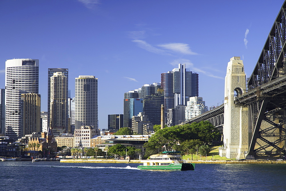 Sydney Harbour Bridge and skyline, Sydney, New South Wales, Australia
