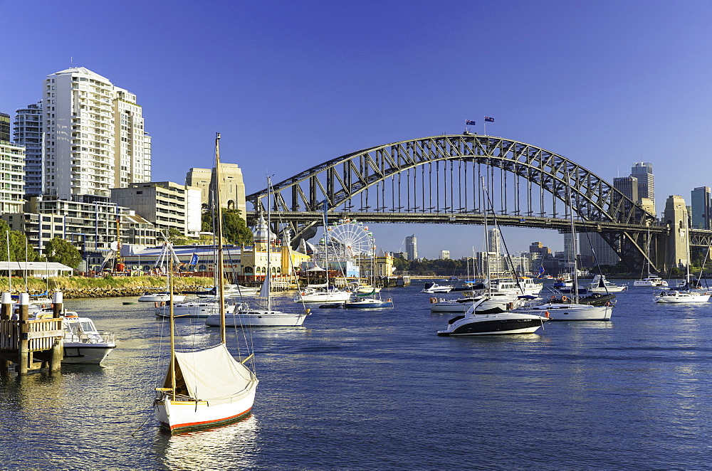 Sydney Harbour Bridge from Lavender Bay, Sydney, New South Wales, Australia