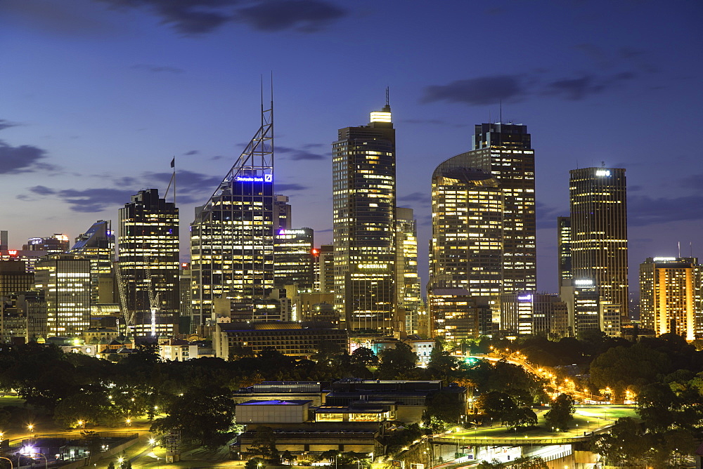 View of skyline at sunset, Sydney, New South Wales, Australia - 800-3425