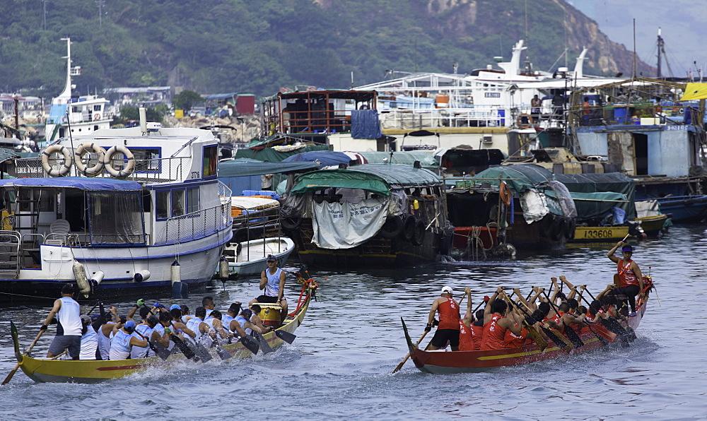 Dragon boat race, Shau Kei Wan, Hong Kong Island, Hong Kong, China, Asia - 800-3432