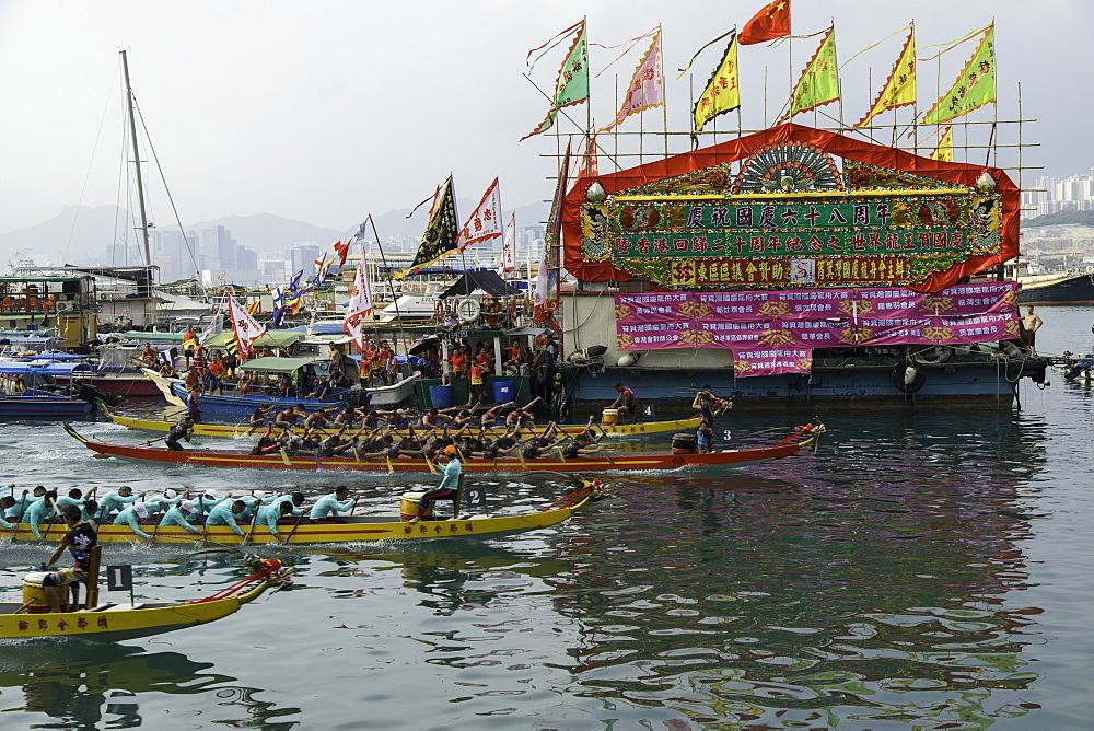 Dragon boat race, Shau Kei Wan, Hong Kong Island, Hong Kong, China, Asia - 800-3436