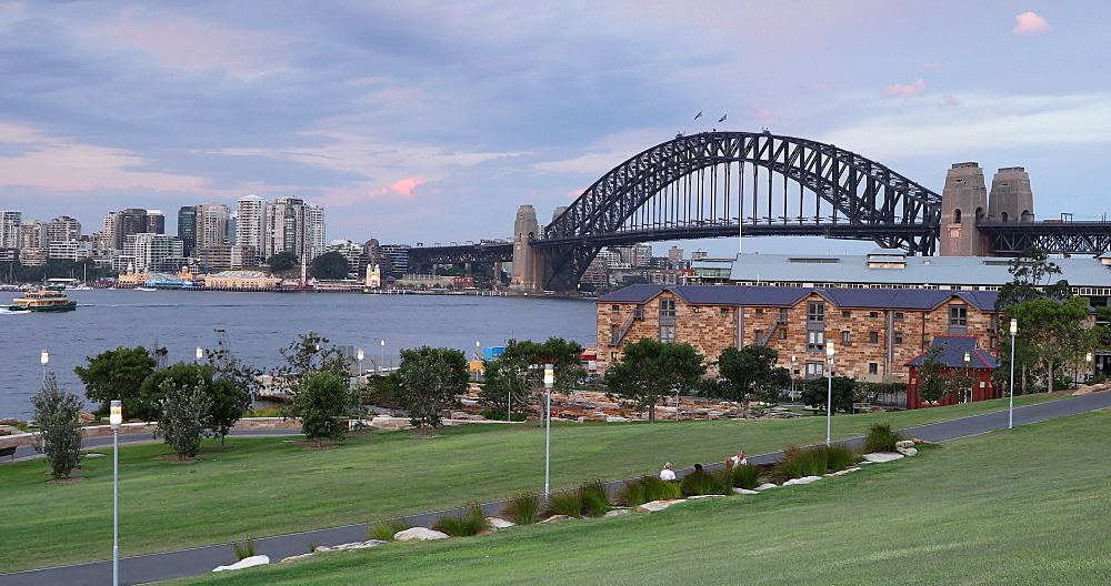 View of Sydney Harbour Bridge from Barangaroo Reserve, Sydney, New South Wales, Australia, Pacific - 800-3472
