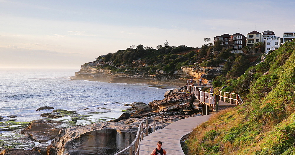 Bondi to Bronte walk along coast, Sydney, New South Wales, Australia, Pacific - 800-3479