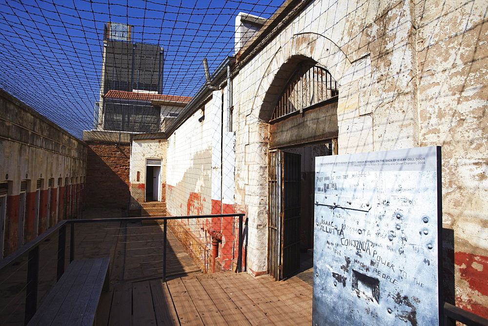 Interior of Constitution Hill, former Apartheid prison, Hillbrow, Johannesburg, Gauteng, South Africa, Africa