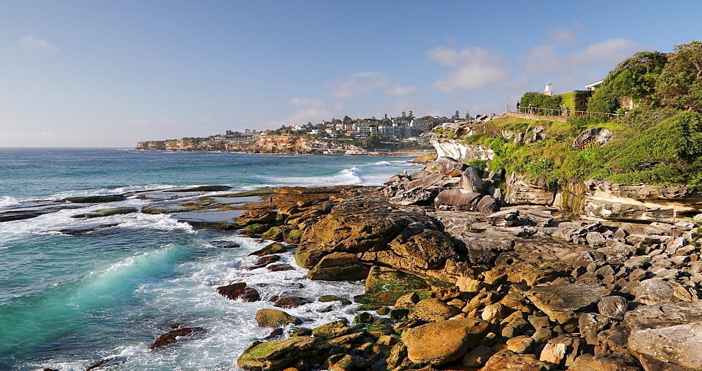Coastline of Bondi to Bronte coastal walk, Sydney, New South Wales, Australia, Pacific - 800-3495