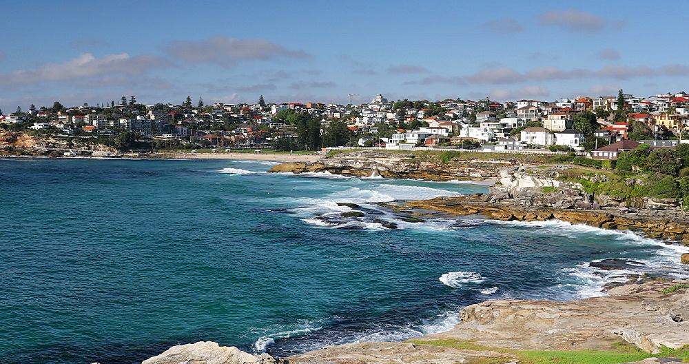 Coastline of Bondi to Bronte coastal walk, Sydney, New South Wales, Australia, Pacific - 800-3497