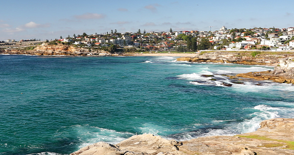 Coastline of Bondi to Bronte coastal walk, Sydney, New South Wales, Australia, Pacific - 800-3498