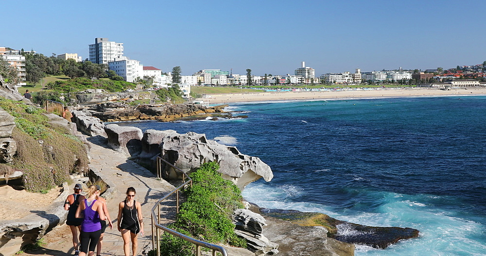 Coastline of Bondi to Bronte coastal walk, Sydney, New South Wales, Australia, Pacific - 800-3499