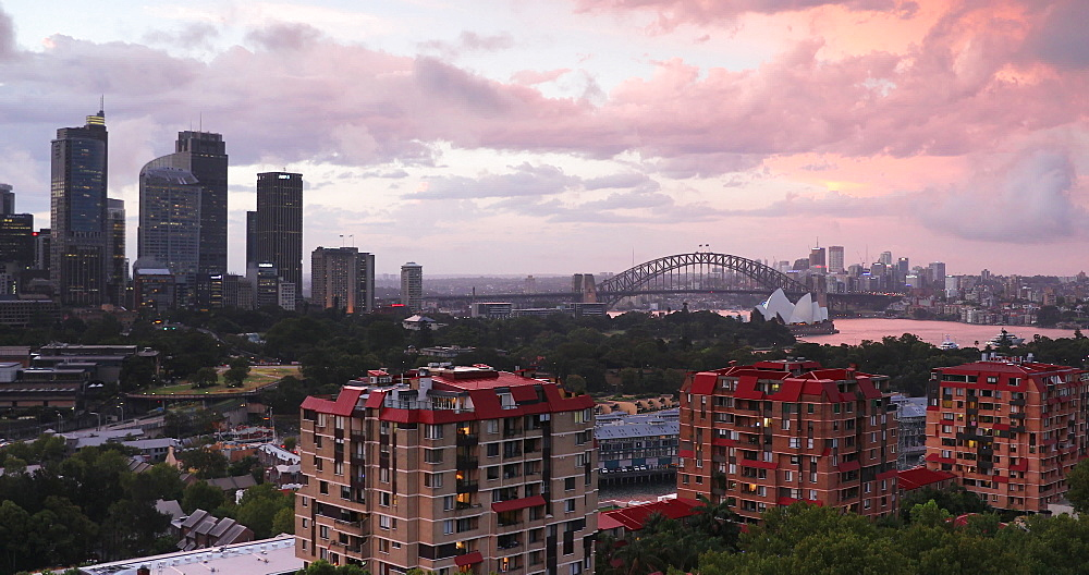View of Sydney skyline and Sydney Harbour, Sydney, New South Wales, Australia, Pacific - 800-3505