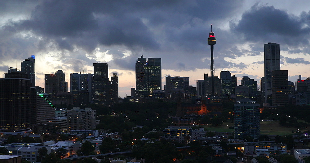 View of Sydney skyline, Sydney, New South Wales, Australia, Pacific - 800-3506
