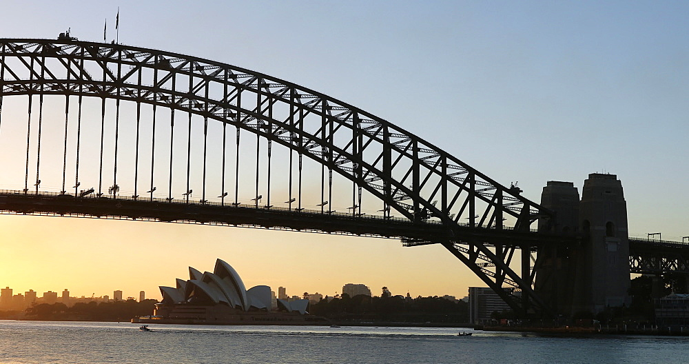 Sydney Harbour Bridge at sunrise, Sydney, New South Wales, Australia, Pacific - 800-3510
