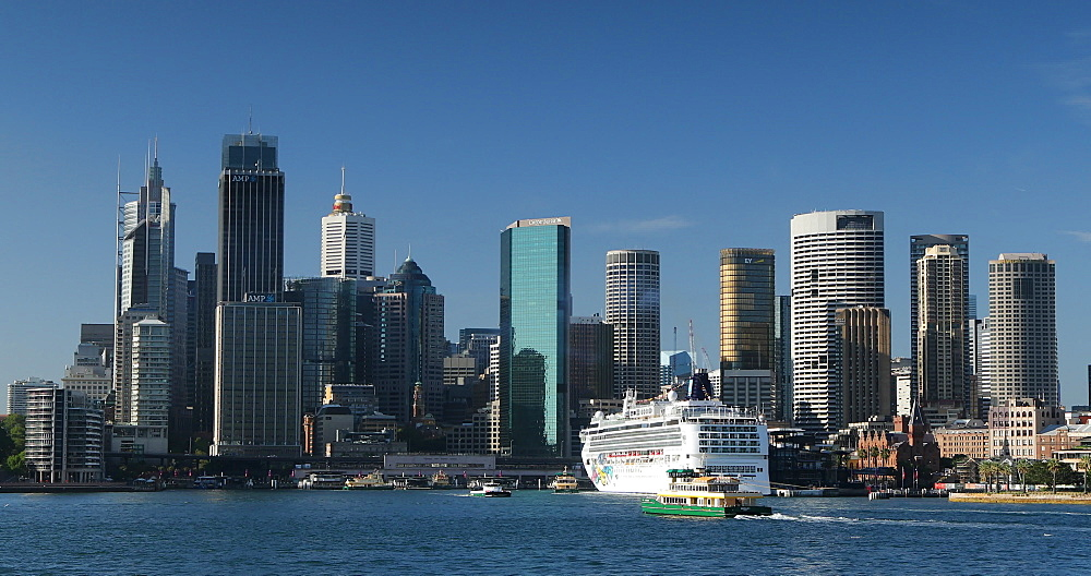 Skyline and Sydney Harbour, Sydney, New South Wales, Australia, Pacific - 800-3516