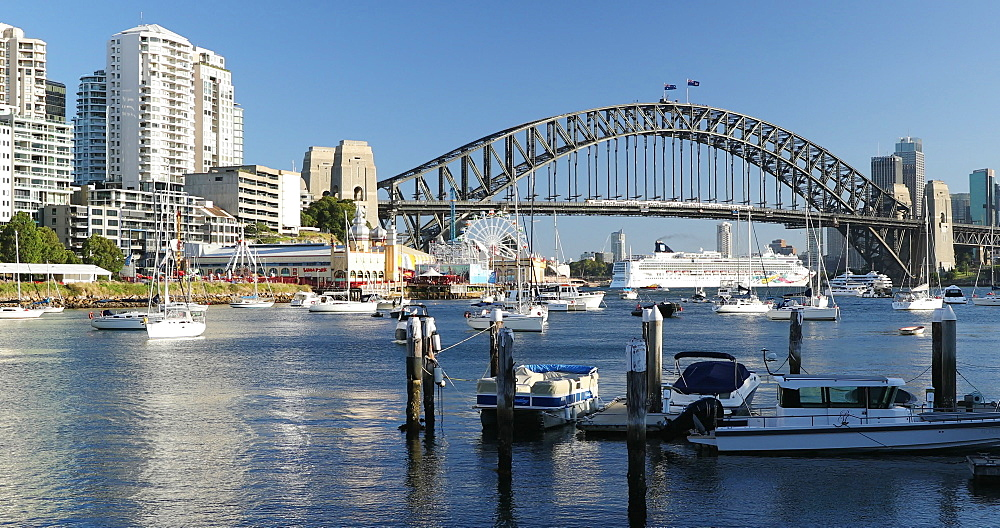 Sydney Harbour Bridge and Lavender Bay, Sydney, New South Wales, Australia, Pacific - 800-3518