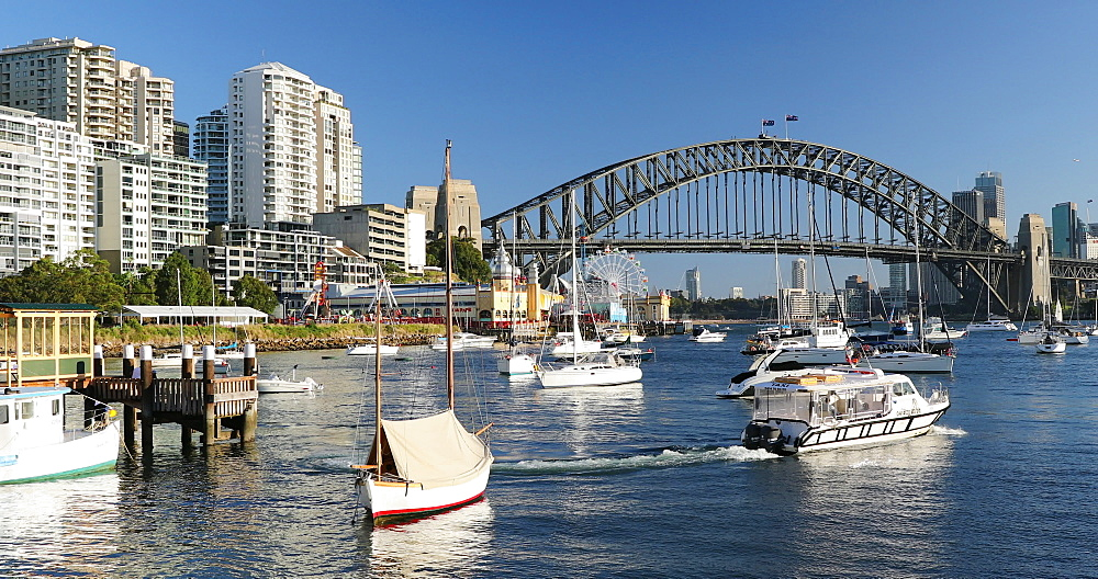 Sydney Harbour Bridge and Lavender Bay, Sydney, New South Wales, Australia, Pacific - 800-3519