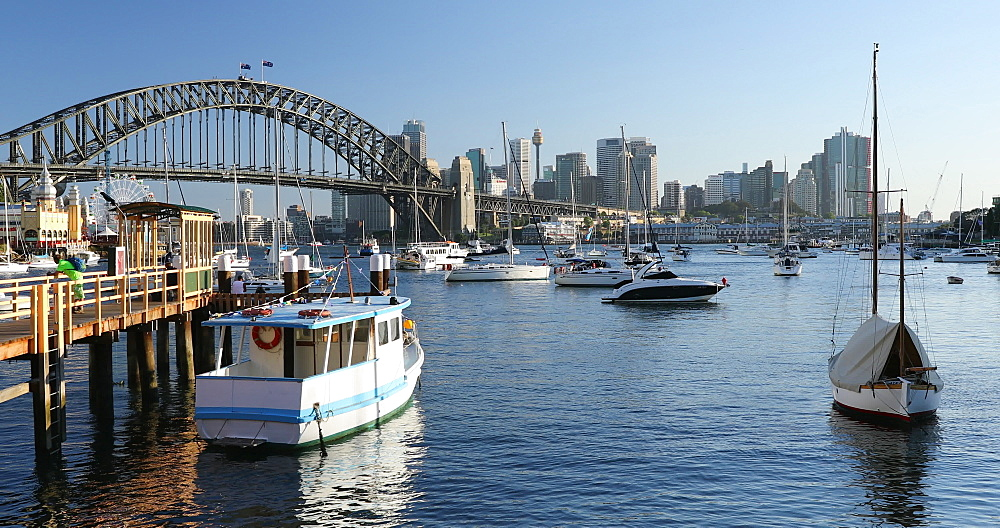 Sydney Harbour Bridge and Lavender Bay, Sydney, New South Wales, Australia, Pacific - 800-3520