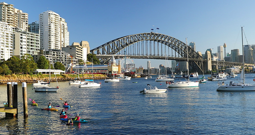 Sydney Harbour Bridge and Lavender Bay, Sydney, New South Wales, Australia, Pacific - 800-3521