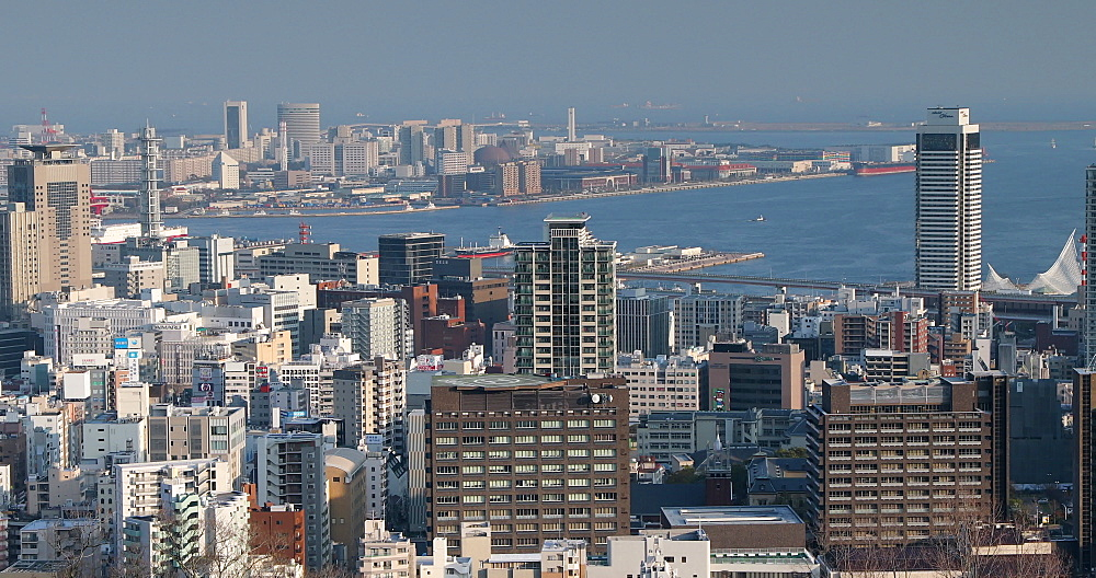 View of Kobe skyline, Kobe, Kansai, Japan, Asia - 800-3533